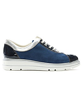 Daniel Savena Suede Low Wedge Trainers