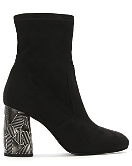 Daniel Grouper Metal Block Ankle Boots