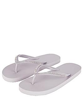 Accessorize Diamante Eva Flip Flops