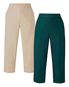 2PK Woven Crop Trousers
