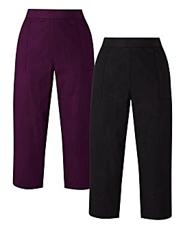 2PK Woven Crop Trousers