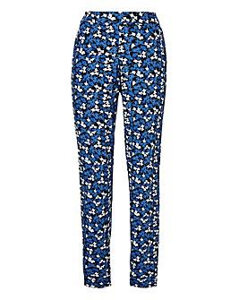 Petite Print Jersey Harem Trousers