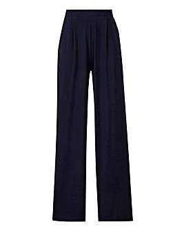 Petite Wide Leg Stretch Jersey Trousers