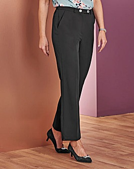 Tailored Straight Leg Trousers Short