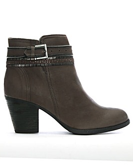 Daniel Loki Chain Leather Ankle Boots