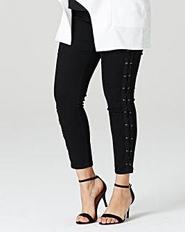 Simply Be Side Lace Up Detail Jeans