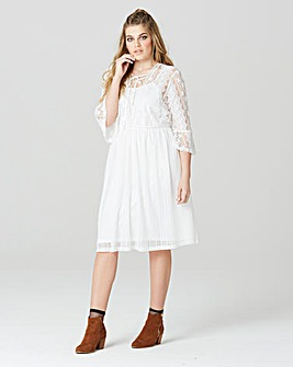 Simply Be Lace Tie Front Dress
