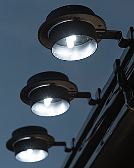 Set of 3 Solar Gutter Lights