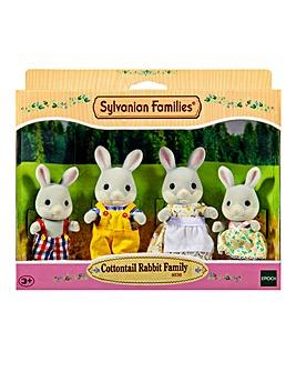 Sylvanian Cottontail Rabbit Family