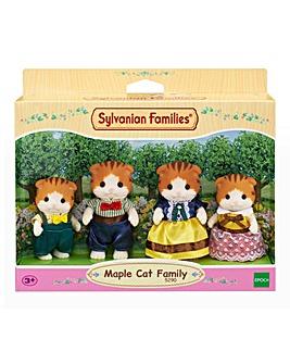 Sylvanian Families Maple Cat Family