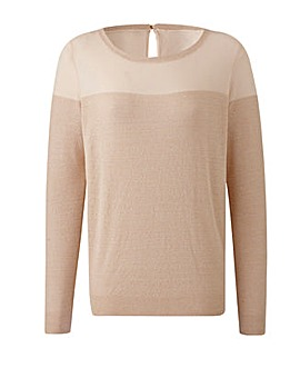 Metallic Yoke Jumper