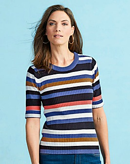 Multicolour Stripe Rib Top