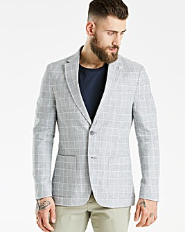Hammond & Co Grey POW Linen Blazer
