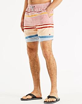 Mantaray Red Stripe Swimshorts