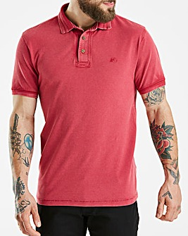 Mantaray Red Pique Garment Dye Polo