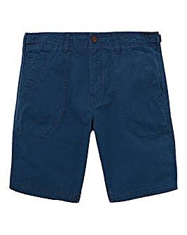 Mantaray Navy Slub Fatigue Shorts