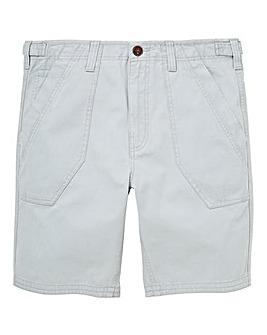 Mantaray Light Grey Slub Fatigue Shorts