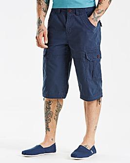 Mantaray Navy 3/4 Slub Crop Shorts