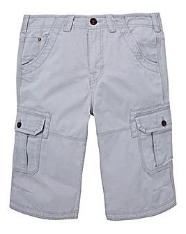 Mantaray Light Grey 3/4 Slub Crop Shorts