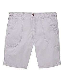 Mantaray Light Grey Slub Shorts