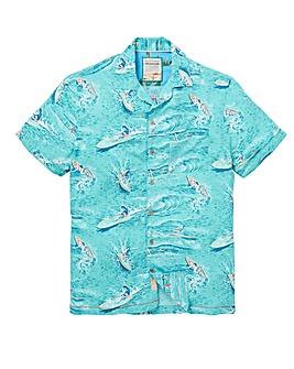 Mantaray Waves Print Shirt