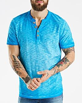 Mantaray Oil Wash Y Neck T-Shirt
