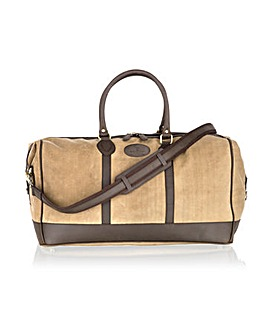 Woodland Leather Canvass Holdall