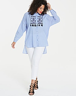 Ax Paris Curve Dip Back Shirt