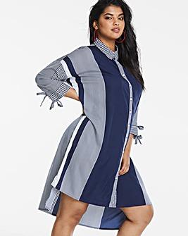 AX Paris Curve Multi Stripe Shirt Dress