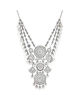 Crystal Disc Statement Necklace