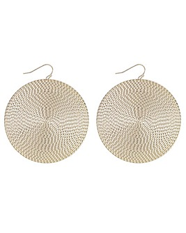 Textured Disc Earring