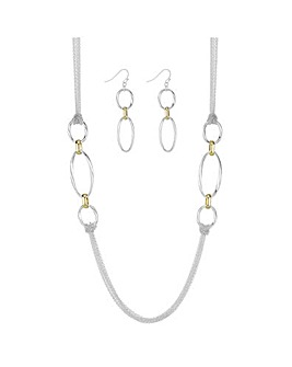 Open Link Chain Jewellery Set