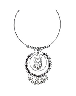 Beaded Oversized Torque Necklace