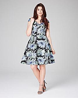 Grazia Fit & Flare Jacquard Dress