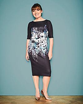 Lorraine Kelly Floral Scuba Midi Dress