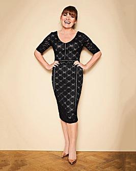 Lorraine Kelly Lace Detail Midi Dress