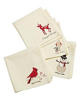 Christmas Holly Set of 4 napkins