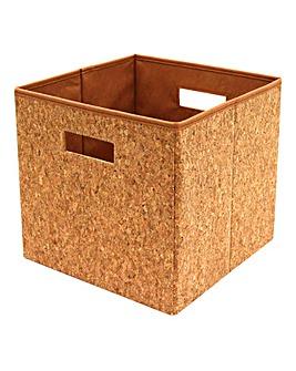 Square Cork Foldable Storage Box Medium