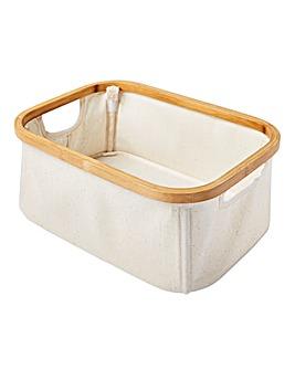 Bamboo & Canvas Storage Box