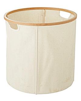 Bamboo & Canvas Basket