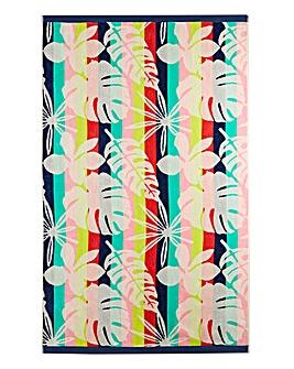 Funky Floral Beach Towel