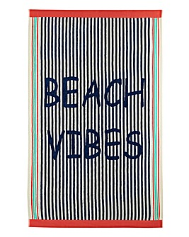 Beach Vibes Beach Towel