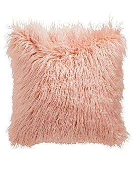 Blush Faux Fur Cushion