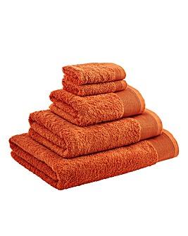 Egyptian Cotton Towel Range Tangerine