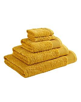 Egyptian Cotton Towel Range Ochre