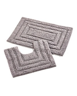 Gabsi Cotton Bath Mat & Ped Set
