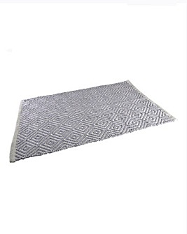 Diamond Bath Mat- Grey