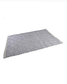 Diamond Bath Mat- Grey