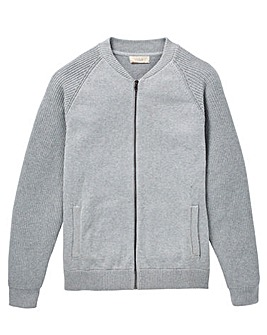 W&B Grey Knitted Bomber R