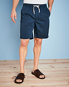 W&B Navy Elasticated Shorts